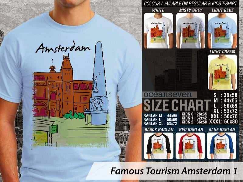 Kaos Wisata Amsterdam 1 Belanda distro ocean seven