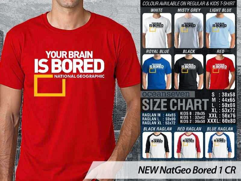 Kaos National Geographic NEW Nat Geo Bored 1 distro ocean seven