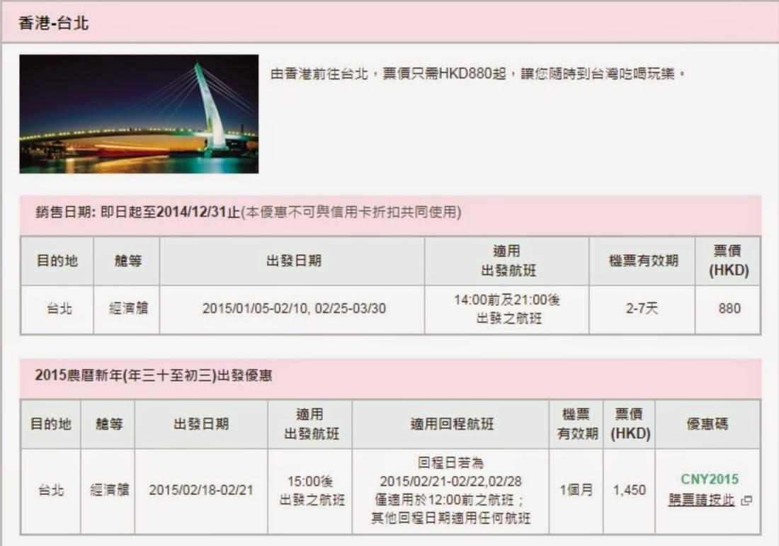 長榮航空「1-3月+農曆新年」優惠,香港飛台北$880起、農曆新年正日出發$1,450起;