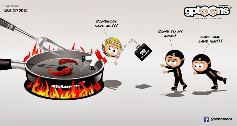 Серхио Перес остается без места в McLaren - комикс Grand Prix Toons перед Гран-при США 2013
