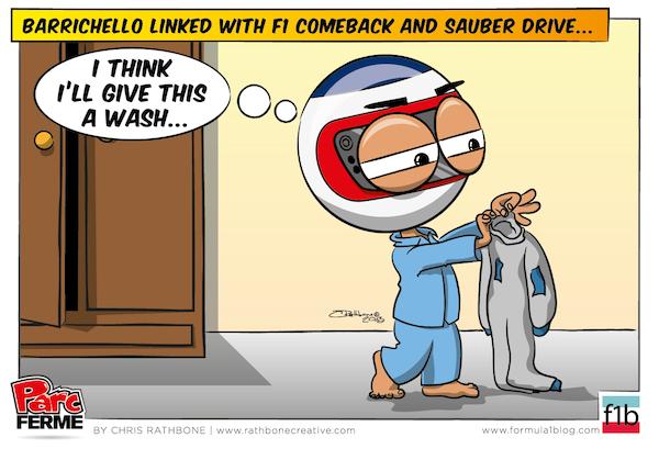 Рубенс Баррикелло готовится к возвращению в Sauber - комикс Chris Rathbone