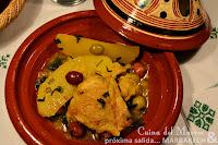Tajín de pollo con patatas