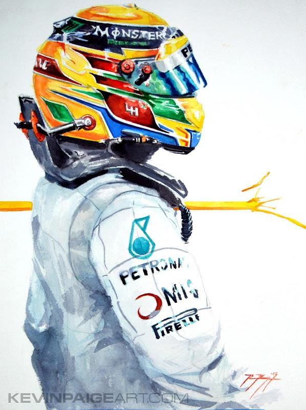 Льюис Хэмилтон AMG Mercedes - Achieve - рисунок Kevin Paige Art
