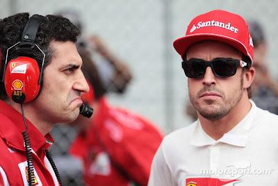 not bad гоночный инженер Андреа Стелла и Фернандо Алонсо на Гран-при Бразилии 2012