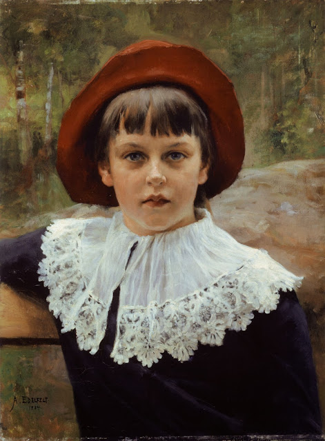 Albert Edelfelt - Berta Edelfelt. The sister of the artist, a little older