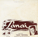 Card for Tony Toyoda's show at the Lanai Lounge