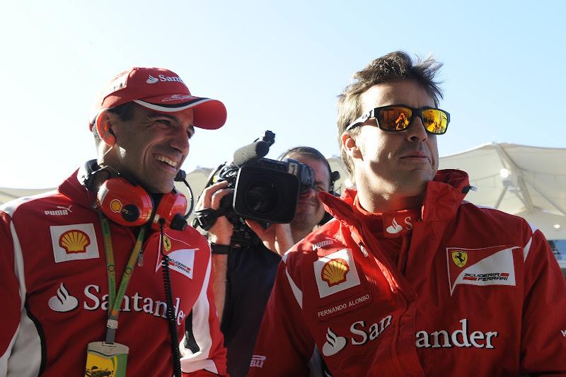 Марк Жене и Фернандо Алонсо на Гран-при США 2012