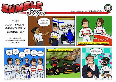 комикс Rumble Strips по Гран-при Австралии 2015