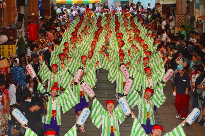 第59回よさこい祭り☆本祭2日目・はりまや橋競演場41☆上2目0386