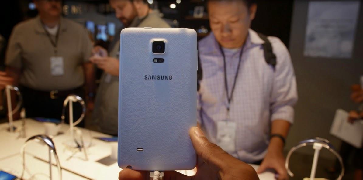 Back View Samsung Galaxy Note Edge