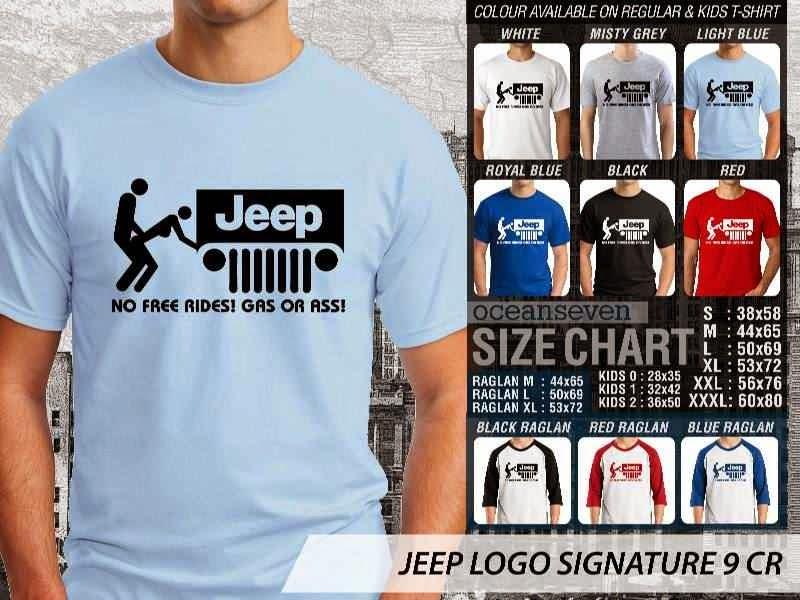 jual kaos jeep Logo Signature 9 Gas Or Ass distro