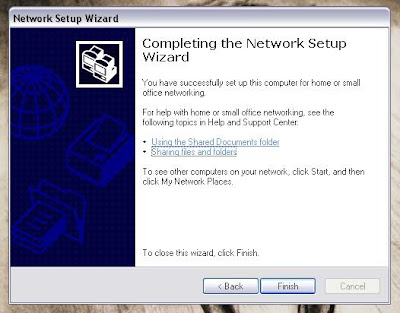 Confirming to finalize network wizard image