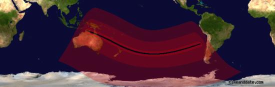 Видимость солнечного затмения 13-14.11