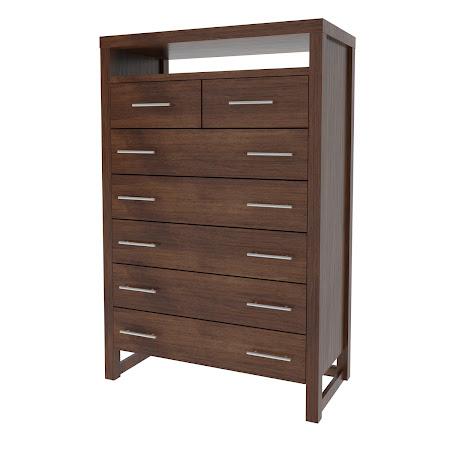 Matching Furniture Piece: Sumatra Vertical Dresser, Espresso Maple
