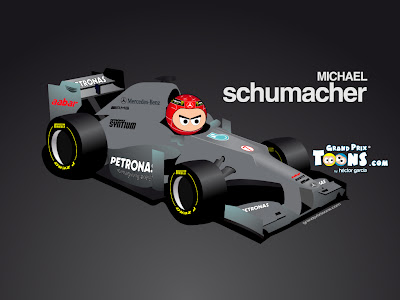 Михаэль Шумахер Mercedes W03 Grand Prix Toons 2012