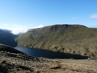 Hayeswater and Gray Crag (one of our Wainwrights planned for later in the walk)