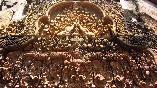 The Bateay Srei temple contains some of Angkor's finest carvings.