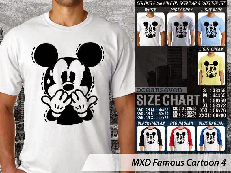 KAOS Mickey Mouse 4 Kartun Lucu distro ocean seven