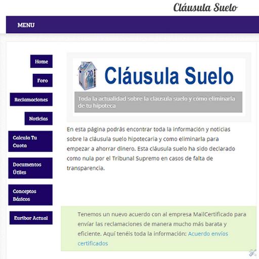 Documentos de ayuda cl usula suelo for Reclamar importe clausula suelo
