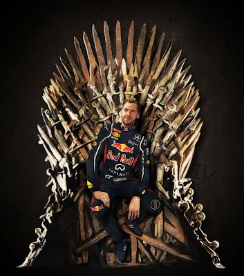 Себастьян Феттель на железном троне - арт от Tetura