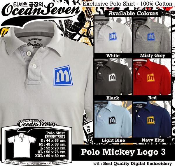 POLO Mickey Mouse 3 Logo distro ocean seven