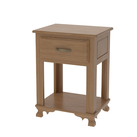 Matching Furniture Piece: Prairie Nightstand with Shelf, Natural OakMatching Furniture Piece: Prairie Nightstand with Shelf, Natural Oak