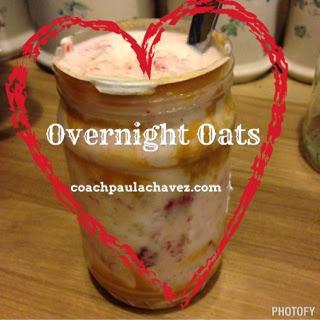 oatmeal, overnight oats, coachpaulachavez
