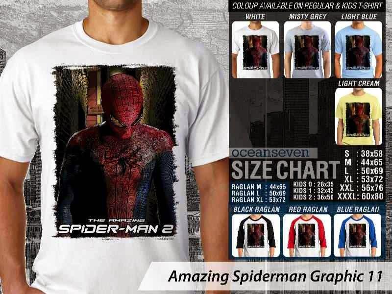 Kaos Film Superhero Amazing Spiderman Graphic 11 distro ocean seven