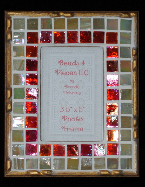 Ornate Gold-Finished Mosaic Frame MOF1320