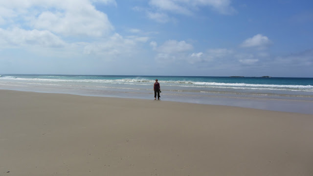 We spent a lot of time walking Straddie's beautiful, desolate beaches.