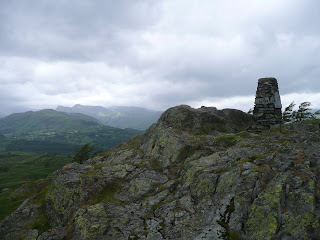 Black Crag Summit - Langdales in distance