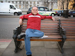 Chilling on one of the many park benches along the River Thames