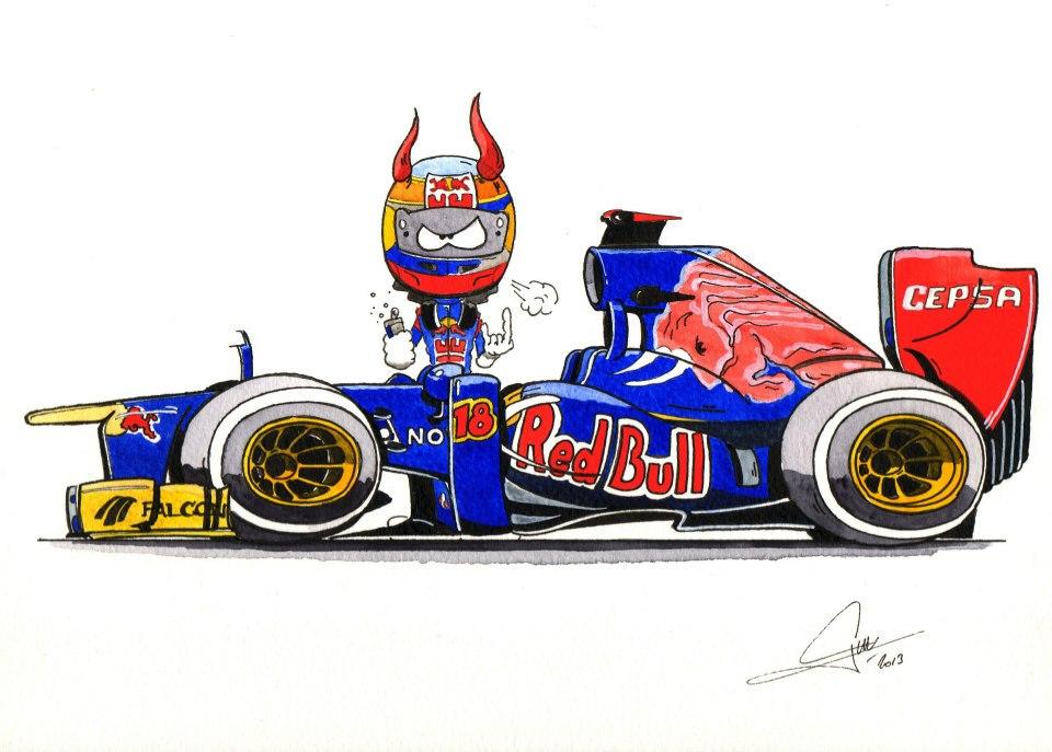 Жан-Эрик Вернь Toro Rosso 2013 - комикс Quentin Guibert