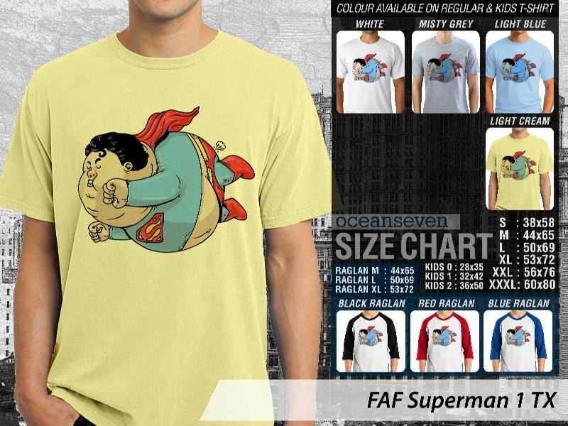 Kaos Superman distro ocean seven