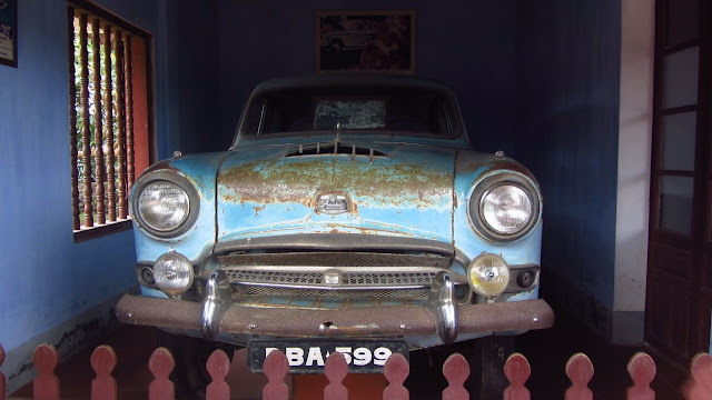 Car of Buddhist monk Thich Quang Duc. The famous picture of his self-immolation is displayed in the windshield.