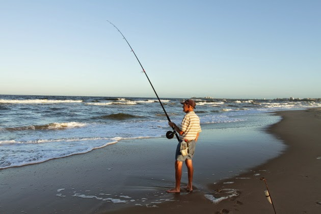 Evening Fishing at Surf Beach, Twin Waters, Sunshine Coast, Queensland