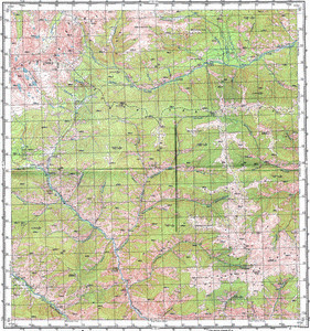 Map 100k--m46-003--(1974)
