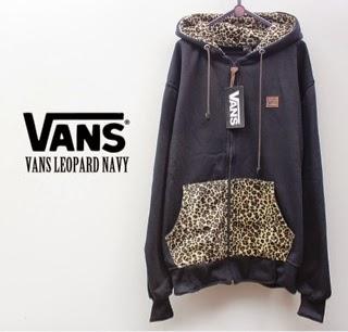 Jaket Vans Leopard Navy