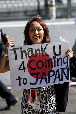 болельщица на Гран-при Японии 2011