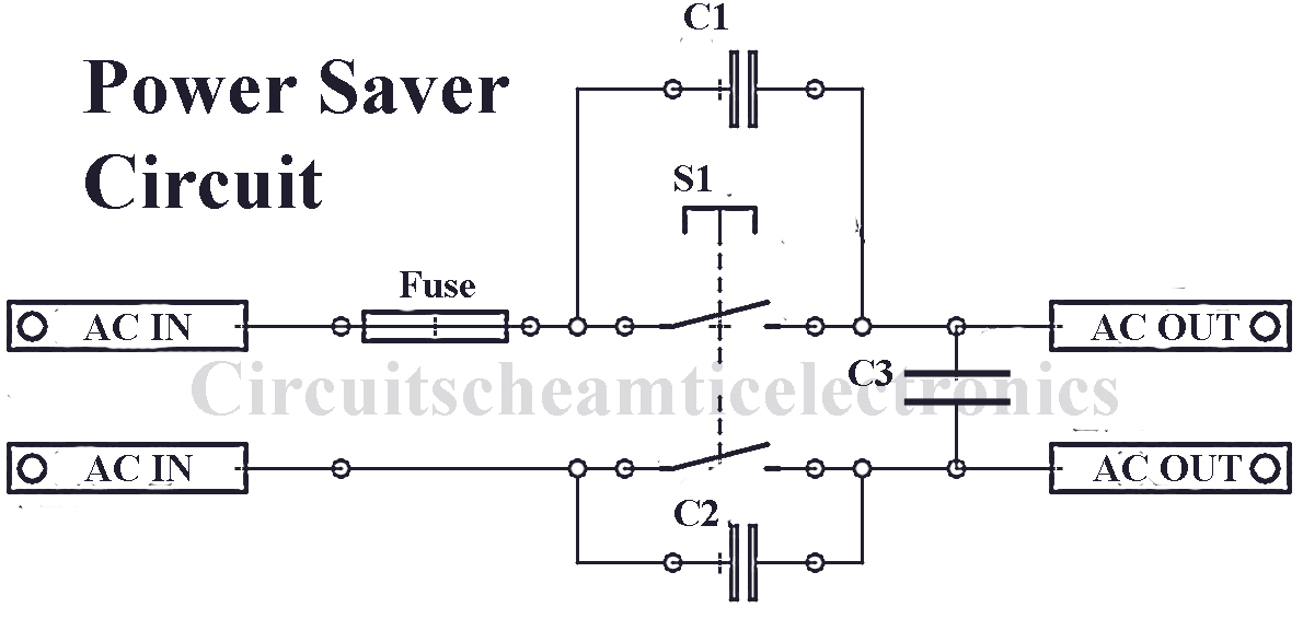 simple power saver circuit circuit diagram