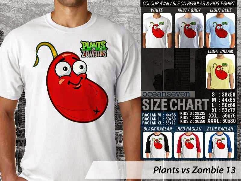 KAOS Plants VS Zombie pvz 13 Game Lucu distro ocean seven