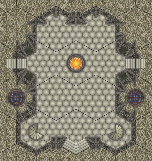 Hex Grid Tile Castle