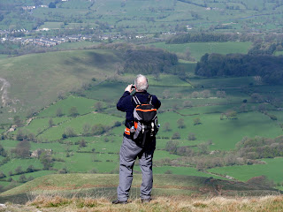 Ed takes a great shot from Pendle Hill - Just cant quite see whats on the camera screen!