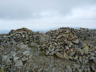 The rocky summit of Haycock