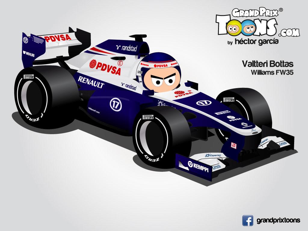 Вальтери Боттас Williams FW35 Grand Prix Toons 2013