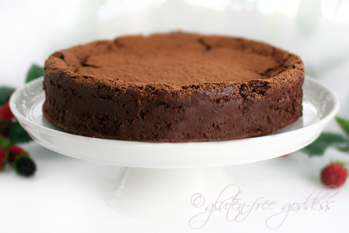 Truffle cake that is gluten free gorgeous