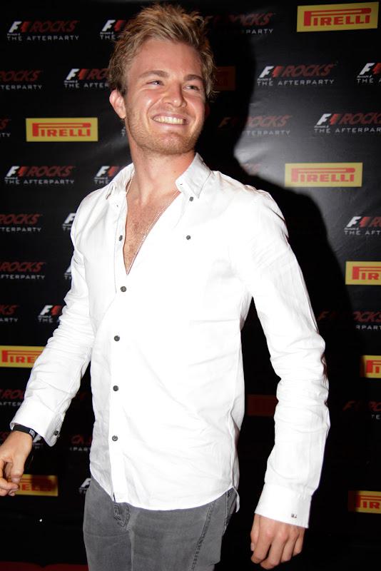 Нико Росберг на F1 Rocks Afterparty после Гран-при Бразилии 2011