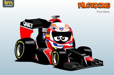 Тимо Глок Marussia MR01 pilotoons 2012