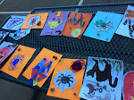 Art is often a fun seasonal activity. Here, students have created a range of Halloween crafts during the elementary after care program.