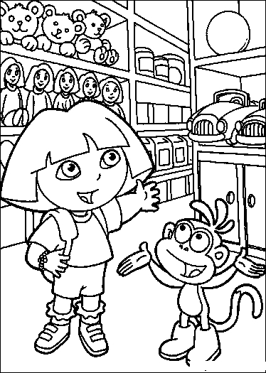 Dora The Explorer Bubble Guppies Go Diego Go  - coloring pages dora the explorer